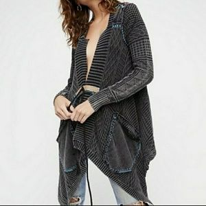 Free People all washed out black cardigan S